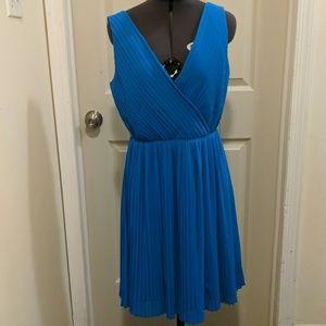 Aqua pleated dress